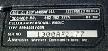 Mitsubishi AT-1000 data label