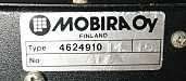 Mobira Combi bracket data label