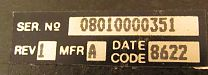 Novatel VOLVO CELLULAR TELEPHONE data label