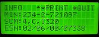 NEC TR5E1320-9A - tester readout
