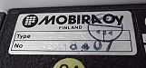 Mobira MC25 data label